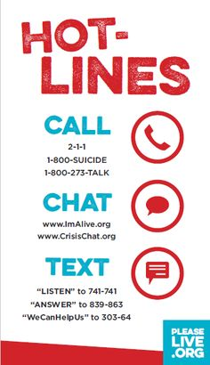 A business-card sized resource for national helplines