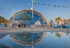 Beach bar /geodesic dome stage
