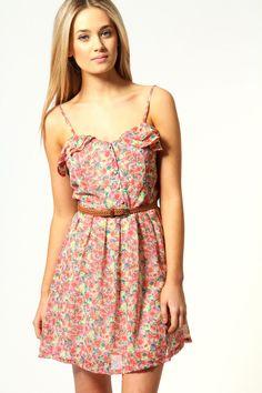Zoe Back Detail Floral Sun Dress