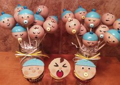 Boy baby shower cake pops   Flickr - Photo Sharing!