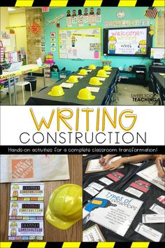 Set the Stage to Engage with this complete writing classroom transformation! This grade resource pack includes activities focusing on transition words paragraph writing editing grammar adding 'voice' details prepositions and much more! Writing Lessons, Teaching Writing, Writing Activities, Classroom Activities, Classroom Ideas, Math Lessons, 5th Grade Activities, Teaching Career, Fourth Grade Writing