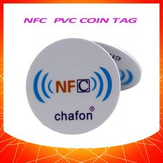 30mm round  PVC coin smart NFC tag support all NFC mobile phones  10pcs as one lot can stick on metal surface #CLICK! #clothing, #shoes, #jewelry, #women, #men, #hats