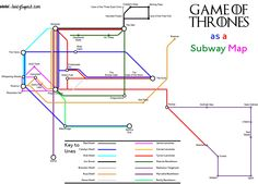 The journeys of the characters in Game of Thrones as a subway map -- Actually, these are the journeys of the characters in the A Song of Ice and Fire books, and therefore contains some spoilers.