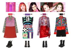 """""""BLACKPINK - AS IF IT'S YOUR LAST❤️"""" by vvvan99 on Polyvore featuring River Island, Emilio Pucci, Roberto Cavalli, Moschino, Faith Connexion, Alessandra Rich, Steve J & Yoni P, Topshop, Prada and House of Holland Stage Outfits, Kpop Outfits, House Of Holland, Kpop Fashion, Topshop, Shoe Bag, Chic, Polyvore, Clothes"""