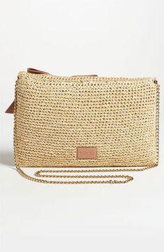 RED Valentino Crochet Raffia Crossbody Bag | Nordstrom