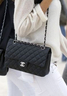 Buy Chanel Black Caviar Jumbo Double Flap Bag 6 from HEWI London. Prada Bag, Chanel Handbags, Lv Handbags, Luxury Bags, Luxury Handbags, Designer Handbags, Designer Bags, Luxury Designer, Designer Clothing