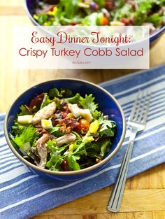 Balance flavors and textures in this hearty #turkey #cobbsalad.