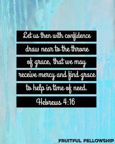 Hebrew 4:16 printable