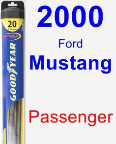 Passenger Wiper Blade for 2000 Ford Mustang - Hybrid