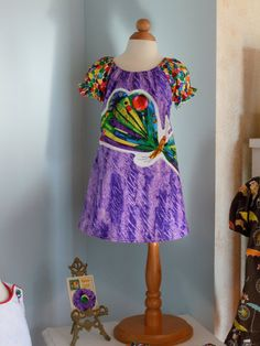 Purple Butterfly Peasant Dress from Hungry by RennyClothing, $45.00