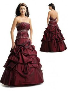 2012 Style A-line Strapless Beading  Sleeveless Floor-length Taffeta  Prom Dresses / Evening Dresses