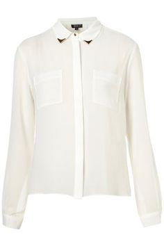 Longsleeve Collar Tip Shirt from Topshop! Me likey!