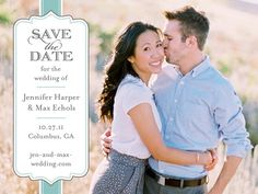 engagement shoot postcard. so cute! maybe I should hurry and see if shutterfly can do some save the dates asap!