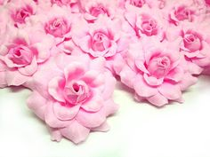 (24) Silk Pink Roses Flower Head - 1.75' - Artificial Flowers Heads Fabric Floral Supplies Wholesale Lot for Wedding Flowers Accessories Make Bridal Hair Clips Headbands Dress * Click image to review more details.