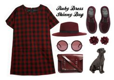 """""""Ruby Dress Skinny Dog"""" by donia98 ❤ liked on Polyvore"""