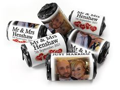 Wedding Favours - Love Heart Sweets with Colour Foil choices - - Mr & Mrs Wedding Favours Love Hearts, Wedding Favour Sweets, Wedding Favors, Mint Sweets, Love Heart Sweets, Mr Mrs, Root Beer, One Design, Choices
