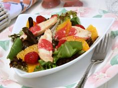 Chicken Raspberry Salad #Healthy #Recipe