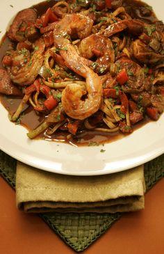King's Fish House seafood jambalaya linguine