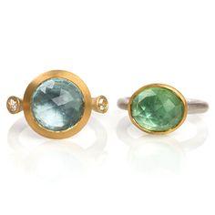 www.ORRO.co.uk - Mark Nuell – Blue & Green Tourmaline Rings - ORRO Contemporary Jewellery Glasgow...