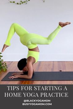 These 5 simple tips will help you start a home yoga practice that suits your goals and needs. #yoga #yogaforbeginners #yogainspiration #yogaposes #homework #homeyoga #yogateacher #blackyogis Benefits Of Physical Fitness, Yoga Benefits, Workout For Beginners, Yoga Beginners, Yoga Playlist, Home Yoga Practice, Yoga Breathing, Yoga Mantras, Yoga Mom