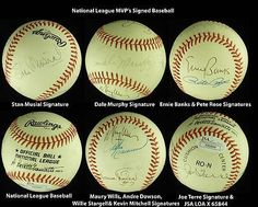 8 NL MVPs Signed NL Baseball Banks Rose Stargell Musial Dawson Torre JSA LOA . $400.00. Nine Major League National League MVP'sHand Signed Rawlings Official National League BaseballA. Bartlett Giamatti, PresidentBall is Signed By: Stan Musial, Joe Torre, Andre Dawson, Ernie Banks, Willie Stargell, Maury Wills, Pete Rose, Dale Murphy and Kevin MitchellAndre Dawson Played For:Montreal Expos 1976-1986Chicago Cubs 1987-1992Boston Red Sox 1993-1994Florida Marlins 1995...
