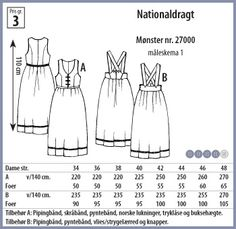 Folkedragt mønster The Book Of Everything, Folk Costume, Costumes, Norwegian Clothing, Frozen Costume, Pattern Drafting, Pattern Making, Traditional Outfits, Textile Design