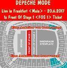 #Ticket  1x Front Of Stage 1 (FOS 1) Ticket Depeche Mode 20.6. Frankfurt Karte3 Innenraum #Ostereich