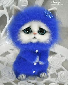 Купить Котёнок в пижамке Василёк - котенок, котята, котик, коты и кошки, котенок игрушка, шерсть