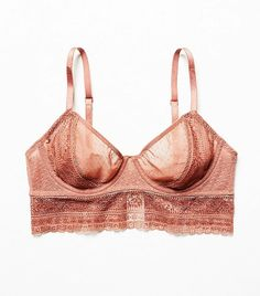 Free People Get Off My Cloud Underwire Bra in Sunset Pink