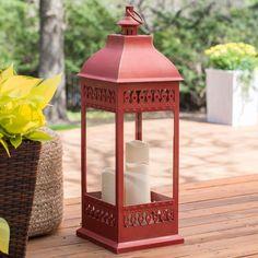 Smart Design San Nicola Lantern with LED Candles - 80071