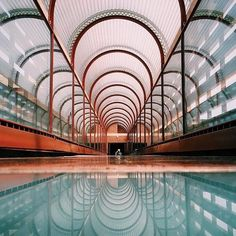 #FrankLloydWright, SC Johnson Wax Complex and Research #Tower, Racine #Wisconsins, 1936-1939.