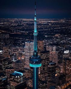 Fly over. Toronto Ontario Canada, Toronto City, Downtown Toronto, Toronto Skyline, Night Skyline, Night City, Birds Eye View, City Lights, Places Around The World