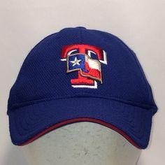 4a397b9af4e Vintage Texas Rangers Baseball Cap New Era Hat MLB Caps Blue Red White  Stretch Fit S