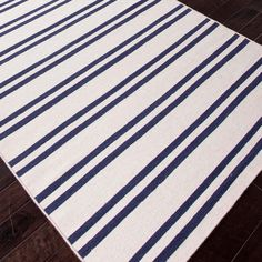 Railroad Stripes Dhurrie Rug - Shades of Light
