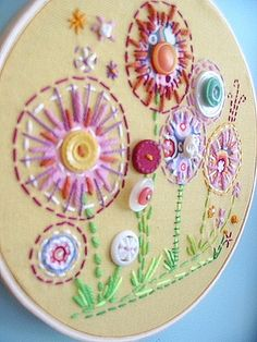 embroidery and buttons