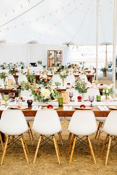 From Wedding to Home: 1960s Coastal California // shell chairs + vintage-inspired eclectic details
