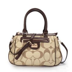 #HighQualityCoach You Never Met The Famous Coach Madison In Monogram Medium Khaki Satchels BUN Like That In Here!