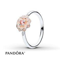 PANDORA Ring Blooming Dahlia Sterling Silver