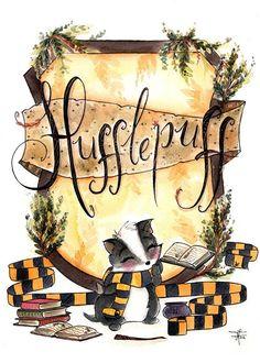 Print Hufflepuff Pride Hogwarts Art Fandom art print