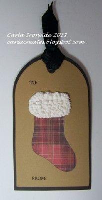 Christmas Gift Tag, CTMH
