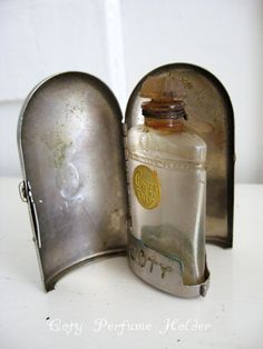 "Circa 1900 Lalique "" Chypre de Coty"" Perfume Casket and Original Bottle - France"