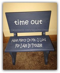 Handmade wooden toddler time out chairbench by AgainstTheGrainLLC #ChairBench
