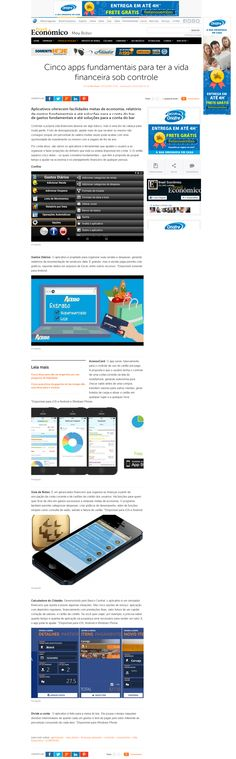 Título:Cinco apps fundamentais para ter a vida financeira sob controle Veículo:IG Data: 04/12/08/2015. Cliente: Acesso