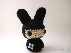Ninja Moon Bun Amigurumi Bunny Rabbit Doll with by MoonsCreations