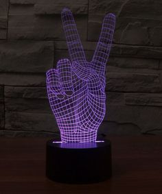 #zulilyfind  Peace 3-D Illusion LED Desktop Lamp by 3dillusionlighting, $30 #zulily