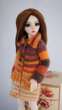 Knitted cardigan for Minifee, MSD, BJD 1/4.