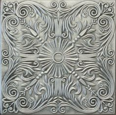 R39AS Antique Silver 20x20 Amazing Styrofoam Tin Look Ceiling Tiles Easy To Glue Up On Any Type Of Surface by Euro-Deco Ceilings, Inc.. $5.25. Easy to clean with ordinary cleansers. Easy to cut. Easy to install (mounted with usual mastic adhesives). May be applied over popcorn ceilings, so long as the surface is  stable.. The Royal Collection tiles are made out of EXTRUDED POLYSTYRENE (a type of Styrofoam) which makes them even, thin, and offers a smooth surface, with g...
