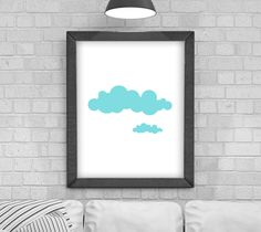 Digital Download 'Cloud' Poster, Printable Art, Instant Download, Wall Prints, Digital Art, Scandinavian print, pattern by KirstyPDesigns on Etsy Wall Prints, Printable Wall Art, Scandinavian, Digital Art, Printables, Clouds, Handmade Gifts, Frame, Pattern