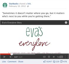 starbuck, every love, facebook post, video, video post