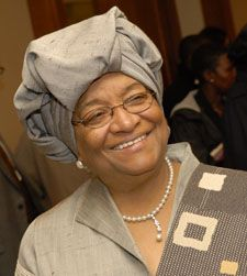 Ellen Johnson Sirleaf, President of Liberia, one of the three women sharing the 2011 Nobel Prize for Peace.